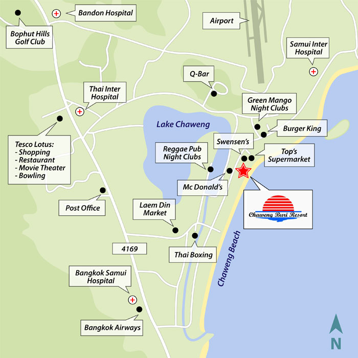 Chaweng Resort Map